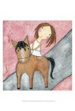 Pink Horse Reproduction d'art par Carla Sonheim