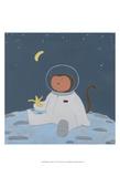 Monkeys in Space IV Reproduction d'art par Erica J. Vess