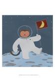 Monkeys in Space III Reproduction d'art par Erica J. Vess