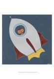 Monkeys in Space II Reproduction d'art par Erica J. Vess