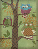 Fantasy Owls Vertical I