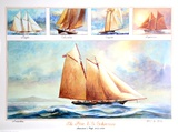 Five US Schooners 1851-1876
