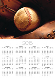 Old Baseball in Glove
