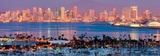 San Diego Skyline at Night and Marina Reproduction d'art par Andy Z
