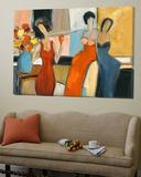 Trois femmes Toile Murale Géante par Julia Shaternik