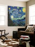 La nuit étoilée, vers 1889 Toile Murale Géante par Vincent Van Gogh