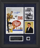 Elvis &quot;It Happened At The World&#39;s Fair&quot; framed presentation with a piece of a suit jacket worn by E