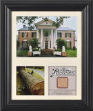 Elvis Presley &quot;Graceland&quot; framed presentation with piece of tree