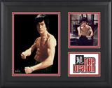 "Bruce Lee ""The Dragon"" framed presentation with two photos"