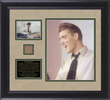 "Elvis Presley ""The June 10  1958 Recording Sessions"" framed presentation with piece of tile from St"