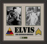 Elvis Presley Army Years framed presentation
