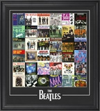 "The Beatles ""Singles Around The World"" framed presentation"