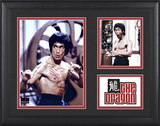 Bruce Lee &quot;The Dragon&quot; framed presentation with two photos