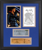 "Elvis Presley ""68 Special 40th Anniversary"" framed photo with replica ticket"