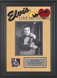 "Elvis Presley ""Love Me Tender"" framed presentation"
