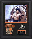 Bruce Lee &quot;The Dragon&quot; limited edition framed presentation with laser-cut logo