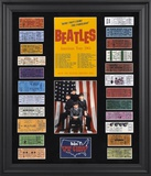 The Beatles 1964 US Tour framed presentation with 23 replica concert tickets