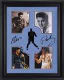 Elvis Presley framed photo presentation with laser-cut replica signature