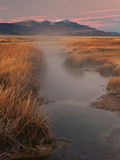 Borax Springs and the Steens Mountains in Southeastern Oregon  USA