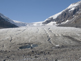 Toe or End of the Athabasca Glacier in the Columbia Icefield  Jasper National Park  Alberta  Canada