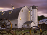 Farm Barn and Silo  Palouse  Washington  USA