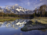 The Grand Tetons from Schwabacher Landing on the Snake River at Sunrise