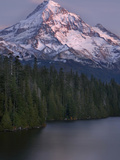 Mt Hood at Twilight with Lost Lake in the Foreground  Oregon  USA