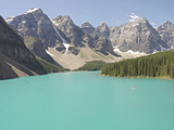 Glacially-Fed  Moraine Lake  Alberta  Canada