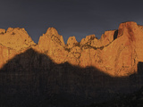 Towers of the Virgin at Sunrise in Zion National Park  Utah  USA