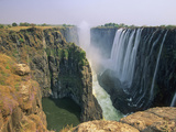 Victoria Falls and Danger Point from Knife Edge on the Zambian Side  Zambia