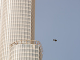 Trash Floating Past the Burj in Dubai  the World's Tallest Building