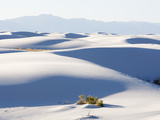 Sand Dunes in White Sands National Monument  New Mexico  USA