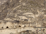 Ancient Cave Houses Dug into Loess Deposits in Shanxi Province  Northern China