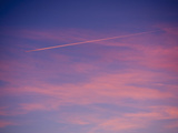 Jet Airplane Contrail at Sunset