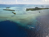 Aerial View of Divespot Blue Corner  Micronesia  Palau