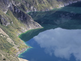 Lake in Quilotoa Crater or Caldera  Ecuador