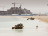 Workers Creating a New Beach Resort in Dubai