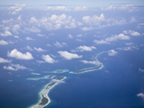 Aerial View of Majuro Atoll  Marshall Islands  Micronesia  Pacific Ocean