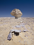 Cone Formation of Limestone  White Desert National Park  Libyan Desert  Egypt