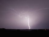 Intracloud and Cloud-To-Ground Lightning East of Norman  Oklahoma  USA
