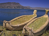 Reed Boats of the Uros Indians  Lake Titicaca  Peru