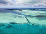 Aerial View of Divespot German Channel  Micronesia  Palau