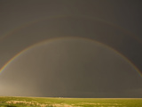 Rainbow in the Texas Panhandle  USA  Note The Faint Second Rainbow Above