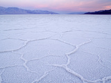 Salt Flats at Badwater  Death Valley National Park  California