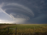 Rotating Wall Cloud from a Supercell in Eastern Colorado