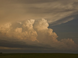 New Thunderstorms Developing at the End of a Squall Line in Central South Dakota  USA
