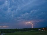 Cloud-To-Ground Lightning Near Norman  Oklahoma  USA