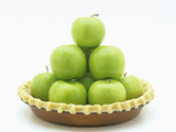 Granny Smith Apples in a Raw Pie Crust