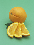 Entire and Sliced Navel Oranges  a Healthy  Refreshing Snack with Vitamin C and Fiber