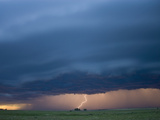 Cloud-To-Ground Lightning from an Approaching Squall Line in Southwestern Nebraska  USA